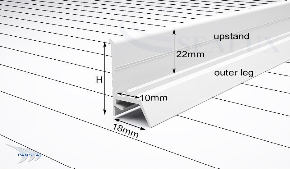 panseal cross section with dimensions